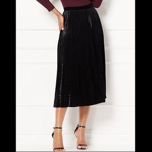 Eva Mendes Collection Pleated Velvet Skirt (NWT)